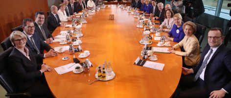 First Cabinet Meeting Of Merkel IV Government